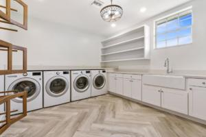 Laundry Room with 2 Washers and 2 Dryers